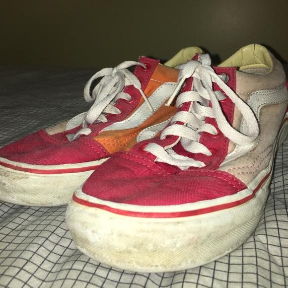 506745b4532f Vintage Vans Old Skool Pink Red Orange. M 5acd3b943a112e3e9254e367